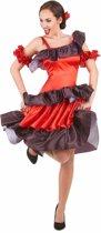 Rode flamenco danseres kostuum voor vrouwen - Volwassenen kostuums