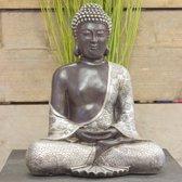 Japanse Boeddha zilver zwart | GerichteKeuze