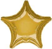 Folieballon Ster Goud - 48 Cm