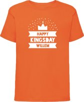 Oranje shirt Koningsdag | Happy Kingsday | Maat 110-116