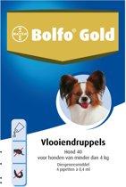 Bolfo Gold 40 Anti Vlooienmiddel Hond - 0 Tot 4 kg - 4 Pipetten