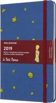 Moleskine agenda 2019 - 12 maanden - Wekelijks - Petit prince blauw - Large - Hard cover