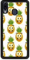 Galaxy M20 Softcase hoesje Happy Ananas