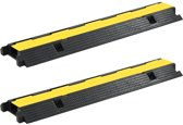 2 STUKS Kabelbeschermer drempel 1 tunnel 100 cm rubber - Kabelbrug - Kabeltunnel