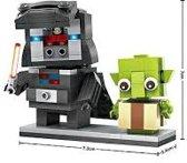 Darth Vader&Yoda, Brick Headz, LOZ, Mini-Block