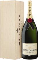 Moët & Chandon Impérial Magnum Champagne - 1 x 150 cl - met Kist