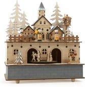 Kerstdorp Met Speeldoos & Verlichting 42 x 21 x 12 cm