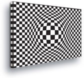 Sphere Black White Canvas Print 100cm x 75cm