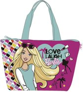 Barbie Strandtas shopper roze met rits