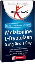 Lucovitaal - Melatonine L-Tryptofaan 5 milligram - Voedingssupplement