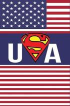 USA: United States Of American Flag Notebook For Kids Men & Women