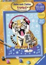 Ravensburger schilderen op nummer Zingende tijger