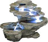Ogen Rivier Vier Lagen Waterval met LED verlichting
