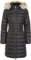 Tommy Jeans Essential Hooded Down Jacket - zwart - winterjas voor dames