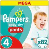 Pampers Baby-Dry Pants - Maat 4 (Maxi) 9-15 kg - 82 Stuks - Luierbroekjes