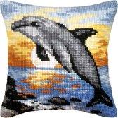 kruissteekkussen 9065 dolfijn
