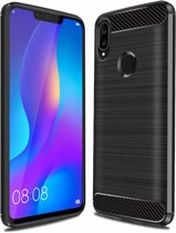 Ntech Soft Brushed TPU Hoesje voor Huawei P Smart Plus (2018) - Matt Zwart