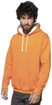 Oranje/witte sweater/trui hoodie voor heren - Holland feest kleding - Supporters/fan artikelen