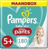 Pampers Baby Dry Pants Maat 5+ - 180 Luiers Maandbox XL