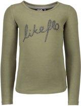 Like Flo Vrouwen t-shirts & polos Like Flo Flo girls jersey ls tee + artwork grijs 128