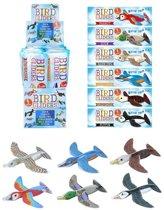 8 stuks foam vliegtuigjes vogels - uitdeelcadeautjes