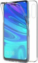 Ntech Huawei P Smart Plus (2019) Dual TPU Case hoesje 360° Cover 2 in 1 Case ( Voor en Achter) Transparant