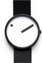 Picto 43379 horloge dames en heren - zwart - edelstaal PVD zwart