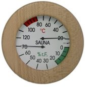 Hygro en Thermometer rond hout