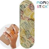 MOMO STICK / MOMOSTICK – verstelbare flexibele GSM vingerhouder / Telefoonring grip / vingerhouder / telefoonring standaard / selfiehouder / telefoonhouder / ringhouder / telefoonstandaard – WERELDREIZIGER PASPOORT STEMPELS