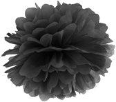Pompon Zwart 25cm