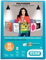 10x Elba showalbum Polyvision 20 tassen, blauw