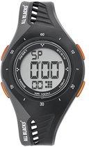All Blacks 680192 digitaal horloge 38 mm 100 meter zwart/ oranje