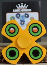 Fidget Spinner NANO Lagers | Geel 4-poot | Zéér soepel KMFS033