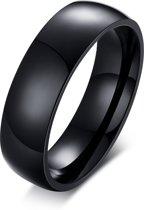 Victorious – Zwartkleurige Ring – Gepolijst – Duurzaam & Hoge Kwaliteit – Maat 54 (17.3mm)