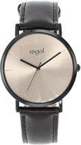 Regal Horloges- Regal heren horloge met bruine band