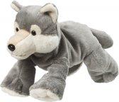 Pluche wolf knuffel 22 cm