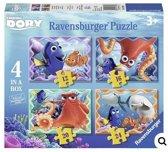 Ravensburger Disney Finding Dory. Vier puzzels -12+16+20+24 stukjes - kinderpuzzel