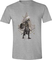 Assassin's Creed: Origins - Character Stance Men T-Shirt - Grijs Melange - Maat M