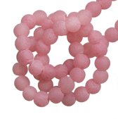 Glaskralen Pumice (4 mm) Soft Pink (100 Stuks)