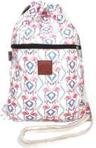 Rugtas Flamigo's   T-Bags   100% Katoen   14 Liter   Roze & Wit   Comfortabel