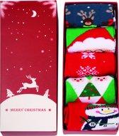 JAP Kerstsokken dames heren - Kerstmis giftbox 5 paar - Maat 37 - 42 - Set I