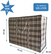 MixMamas Big Shopper / Opbergtas / Waszak XL - 70 x 50 cm - 105 L - Set van 2 - Zwart