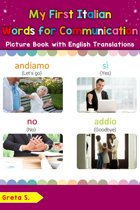 My First Italian Words for Communication Picture Book with English Translations