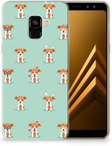 Samsung Galaxy A8 Plus (2018) TPU Hoesje Pups
