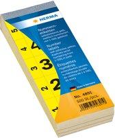 HERMA 4891 nummeretiketten zelfklevend 1-500 geel 28x56 mm