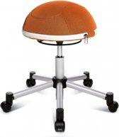 Topstar Sitness - Zitbal - Ergonomisch - Half ball - Netstof - Zilver / oranje