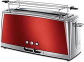 Russell Hobbs 23250-56 Luna Solar Red Long Slot - Broodrooster - Rood