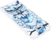 ADEL Siliconen Back Cover Softcase Hoesje voor iPhone 5/5S/SE - Uil