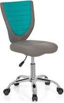 hjh office Kiddy Comfort - Bureaustoel - Stof - Grijs/turquoise