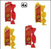 4x Crepe guirlande brandveilig rood/geel 24 meter